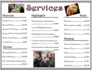 Cosmo Services Price List 2015