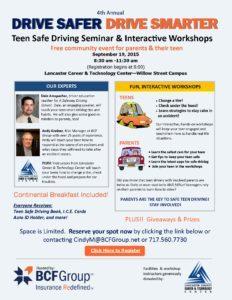 Teen Safe Driving Seminar Flyer
